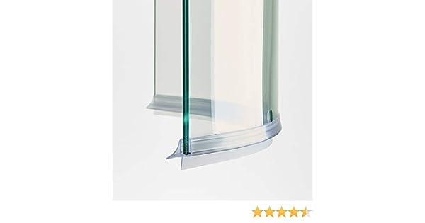 100 cm ec-406 – 18-c Junta Curva mampara de ducha con escurridor ...