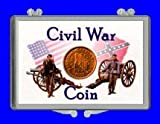 "3"" x 2"" Snaplock Coin Holder for "" Civil War Token - Soldiers (Without Coin)"