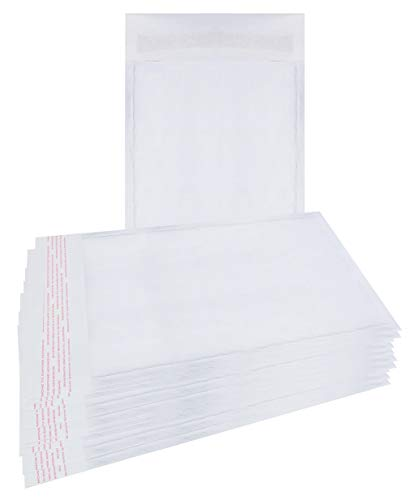 25 Pack White Kraft Padded envelopes 6x9 Bubble Mailers 6 x 9 Peel and Seal Bubble envelopes. Cushion envelopes for mailing, Packing & Packaging & Wrapping. Shipping mailers in Bulk, Wholesale Price.