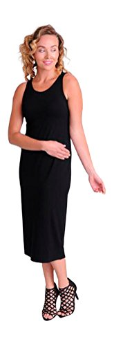Eileen Fisher Scoop Neck Full-Length Dress in Viscose Jersey (S) ()