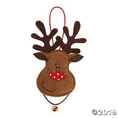 Felt Reindeer Ornament Craft Kit for Kids (Makes 12) Christmas Crafts for Kids