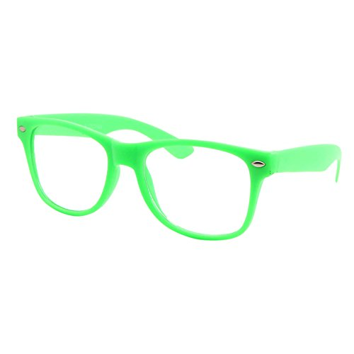Kids Size Color Glasses Clear Lens Nerd Geek Costume Fake Children's (Ages 3-10), - 3 Fake Retro