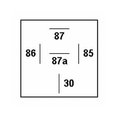 HELLA 931680011 12V 20/40 Amp SPDT/Form C (Sealed), Green: Automotive
