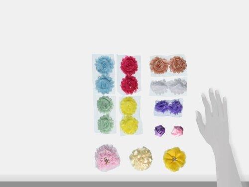 Baby Shower Headband Kit - Headband Kit - DIY Headband Kit - Make 22 Headbands and 2 Clips - Baby Shower Headband Station Kit - DIY Hair Bow Kit - Pastel Collection by Lily's Flower Supply Lily's Flower Supply B-1