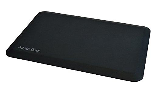 Attollo Desk – Durable Anti-Fatigue Comfort Mat for Standing Desk – Provides Support and Relief – Black 20x30 by Attollo Desk