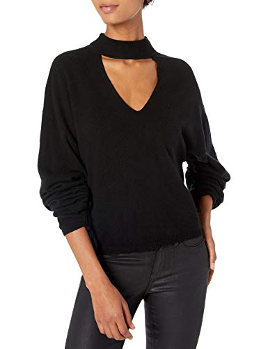 Ramy Brook Women's Kaleb Choker Detail Sweater, Black, Small