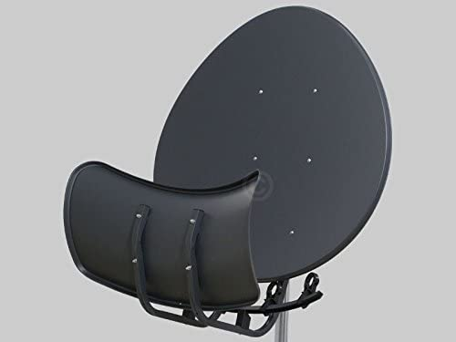 Antena Wavefrontier T90 Toroidal, 5 soportes LNB, en embalaje individual, color gris