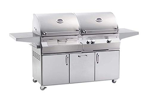 Fire Magic Grills Aurora A830s Gas/Charcoal Combo Portable Grill w/o Rotisserie - -