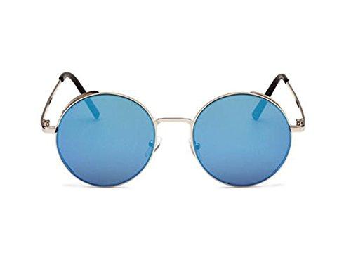 vintage no Gafas Plata protectoras hombre azul mujer de de y de sol sol para retro UV400 moda hielo polarizadas Gafas 8nI0ATqwR