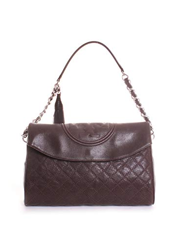 Leather Fleming Hobo Fold Tory Over Distressed in Burch Mahogany Dark qtY57