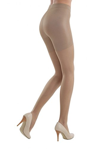 Conte elegant Control Women's Body Shaping Sheer Compression Pantyhose Tights - Control 20 Nude (Natural), Medium by Conte elegant