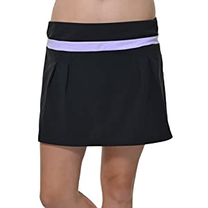 Adidas Climalite Pleated ALine Athletic Skort (Black/GloPurple, Medium)