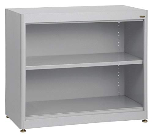- 36' x 18' x 30' Elite Series Stationary Bookcase with 2 Shelves, Dove Gray