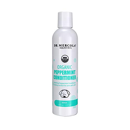 Conditioner Dog Peppermint (Dr. Mercola Organic Peppermint Dog Conditioner - 1 Bottle (8 oz) - Organic Dog Conditioner Promotes Healthy Hair & Skin - w/Peppermint, Aloe Vera, Shea Butter, Neem, and More - Helps Reduce Dog Odors)