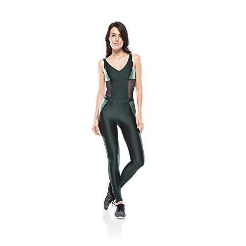 Macacão Fitness Sport Chic - Verde - P