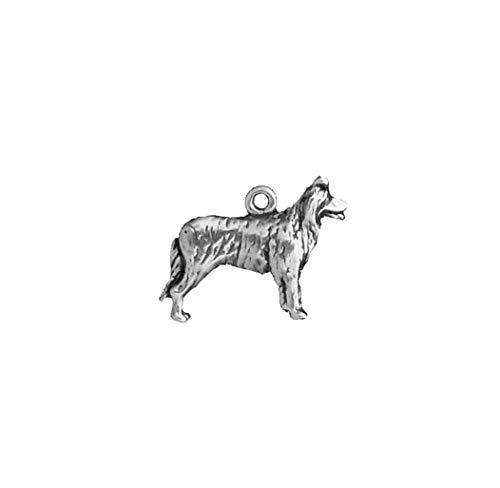(925 Sterling Silver Border Collie Charm Pendant for Bracelet/Necklace)