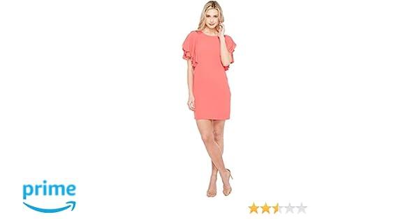 e8ebe5c9da1 Vince Camuto Womens Sleeveless Sheath Dress w Cascading Ruffles at Amazon  Women s Clothing store