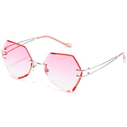 Des lunettes Rond de Femme Couleur Lunettes Nouvelles sans C Soleil soleil rétro Harajuku de Cadre Sport Style B gg4wnqrR