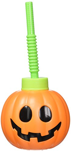 Halloween Cute Pumpkin Plastic Sipper Cup]()