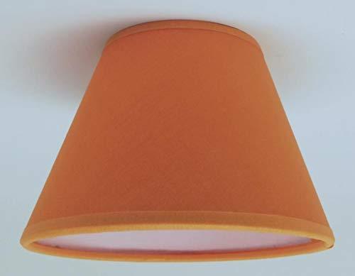 Piccola candela arancione clip on paralume da soffitto lampadario lampada da parete paralume realizzato a mano in tessuto di cotone.