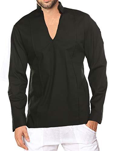1bbc0a766a COOFANDY Mens Fashion T Shirt Cotton Tee Hippie Shirts Long Sleeve Beach  Shirt