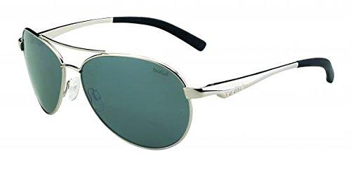 Bolle Cassis Sunglasses, Shiny Silver/Polarized TNS Gun Oleo - Gun Tns