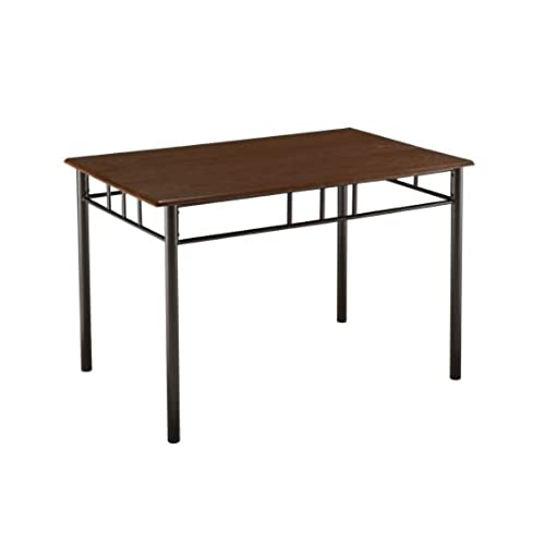Kingu0027s Brand Metal Frame With Cherry Finish Wood Top Dining Room Kitchen  Table