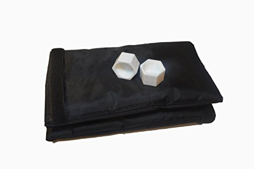 Insulated Outdoor Faucet Covers 2-Pack 6 x 10 Fits Large Spigots to Prevent Frozen Plumbing and Includes 2 Free Threaded Garden Hose Faucet Caps