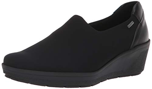 ara Women's Nicky Rain Shoe Black Fabric 5 Wide UK (7.5 US)