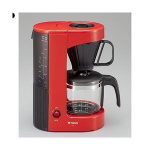 TIGER ACX-A060RH Red Cafe coffee maker for 6 cups