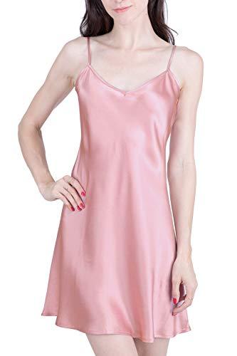 OSCAR ROSSA Women's Luxury Silk Sleepwear 100% Silk Slip Chemise Babydoll Lingerie -