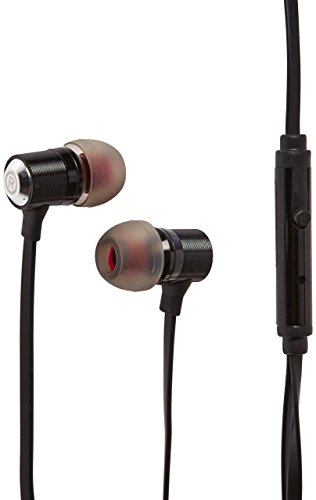 Reiko Reiko 3.5Mm Earphones With Mic & Double Color Earbud Tips - Black - Wired Headsets - Retail Packaging - Black by Reiko
