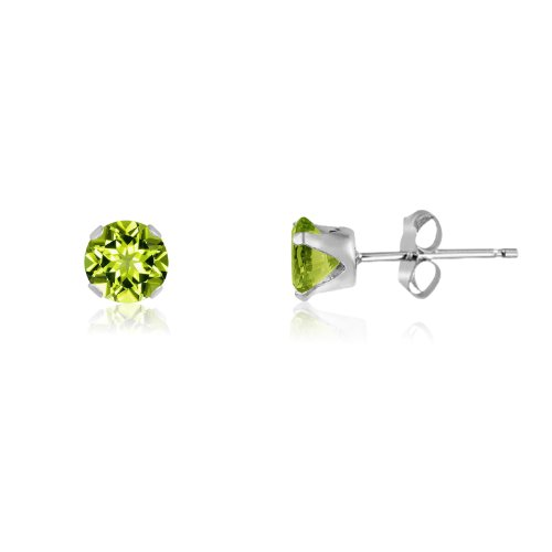 Genuine Peridot Earrings Sterling Goldplate product image