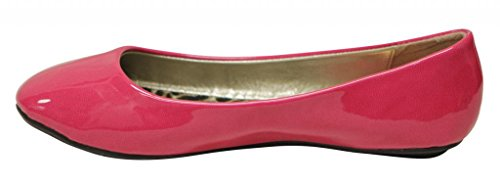 Anna Sonia-1 Ballerina Da Donna Piatta Slip-on Candy Colore Brillante Casual Flat Berry