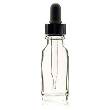 90895342c5eb PREMIUM VIALS CREATIVE PACKAGING SOLUTIONS 1/2 Oz (15 ml) Clear Boston  Round Glass Bottle w/Dropper - Pack of 12