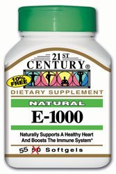 Natural Vitamin E-1000 55 Sgels by 21st Century by 21st C...