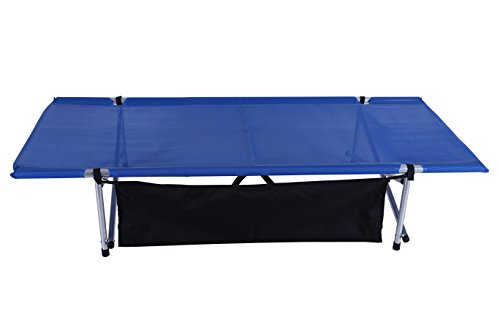 Camp Time, Wide Roll-a-Cot (Blue), Roll Out Cot, Compact, Portable, USA Made