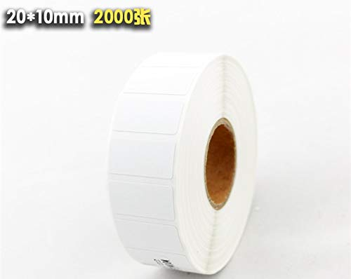 Printer Parts 1 rollsPOS Thermal Label Paper 20x10mmThermal Printer Thermal Labels Waterproof Barcode Blank Stickers (Total 2000 Labels)