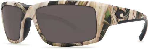 Costa Del Mar Fantail Sunglasses, Mossy Oak Shadow Grass Blades Camo, Gray 580 Plastic Lens