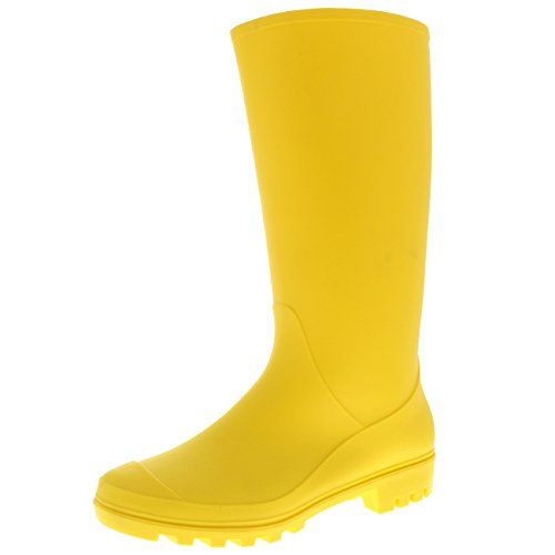 Womens Original Tall Winter Snow Wellingtons Muck Waterproof Boots - Yellow - US9/EU40 - BL0282 by Polar Products