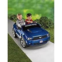 Fisher-Price Power Wheels Boys' Boss Mustang 12-Volt Battery-Powered Ride-On new BLUE color! by Power Wheels