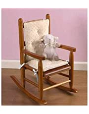 Babydoll Bedding Heavenly Soft Childs Rocking Chair Cushion, Minky Ecru