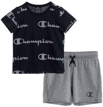 Champion Kids Set Tank Top Shorts Cotton Jersey Tee Training Boy 305284-BL501