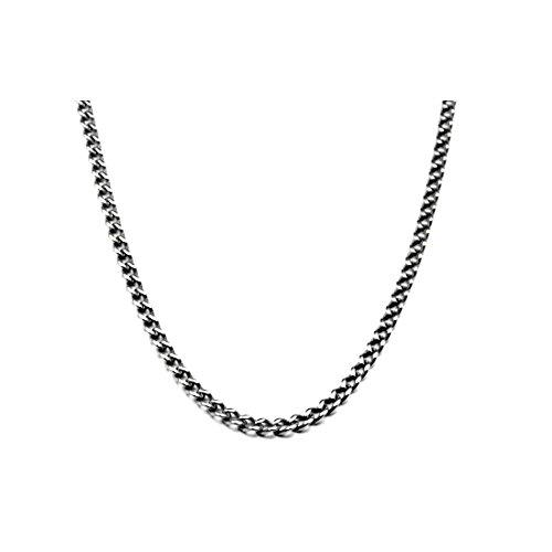3.5mm Titanium Men's Curb Link Necklace Chain