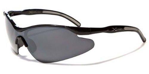 Kids X-Loop Boys Sports Wrap Shield Baseball Fishing Sunglasses - (Black)