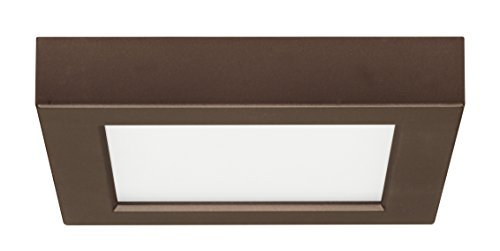 Satco Products S9326 Blink Flush Mount LED Fixture, 10.5W/5, Bronze by Satco