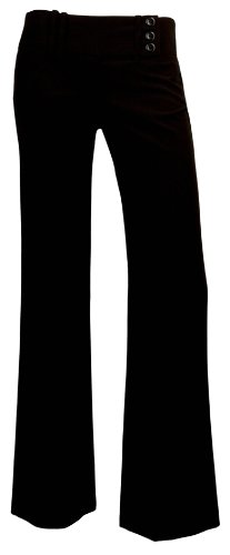 A. Byer 3 Button Extended Tab Pants 9 Black