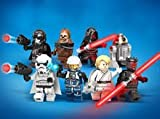 Star Wars Minifigures set of 8: Darth Vader Luke Skywalker Chewbacca Storm Troopers Darth Maul Chopper Pilot