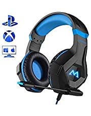 Mpow EG9 Casque Gaming PS4, Casque Gamer avec Lumière LED RGB, Son Surround, Casque Gaming avec Microphone à Réduction de Bruit, pour Nintendo Switch, PS4, PC, Xbox One, Bandeau Réglable, Cble 2, 2 m