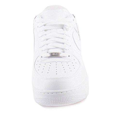 Nike Hombres Air Force 1 07 / Supreme / Cdg Blanco / Blanco-blanco Talla De Cuero 10.5